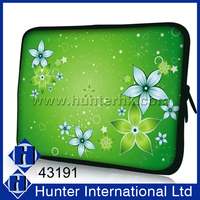 Customized Various Sizes Green Floral Neoprene Case