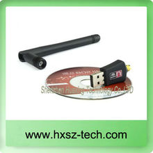 wifi adapter 300M USB WiFi antenna Wireless Computer Network Card 802.11n/g/b LAN+ Antenna Wholesale