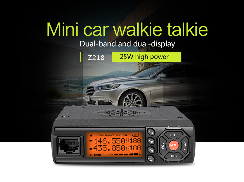 2018 New Mini Cheap Long Distance Dual Way Car Radio Walkie Talkie Zastone Z218