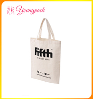 promotional 100% recyclable plain canvas bags for shopping