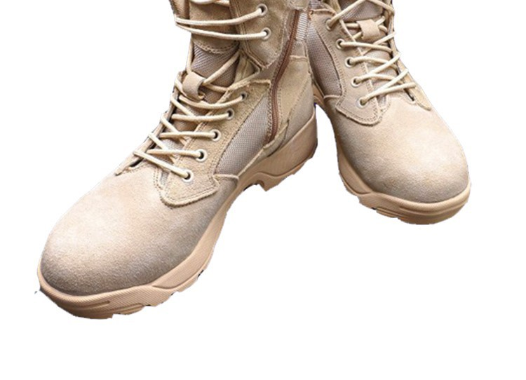 Suede leather Army Boots high quality rubber Boots high quality rubber Boots