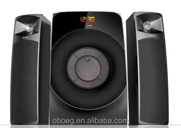2.1channel active multimedia bluetooth Sistema de altavoces 2.1 speakers with digital touch screen