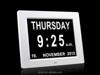2016 directly supply wall clock with date with Non-Abbreviated Day & Month