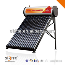 integrative pressurized Solar Water Heater galvanized steel frame color steel outer tank