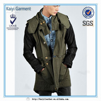 korean latest fashion winter leather mens long coat