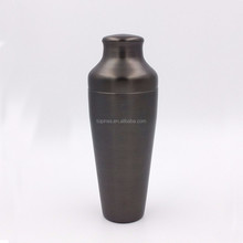 Gunmetal Brushed Black Plating 550ml Parisian Cocktail Bar Shaker Made by stainless steel