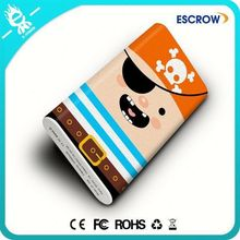 Custome Pirate pattern 2015 new 12000mah power bank with OEM service