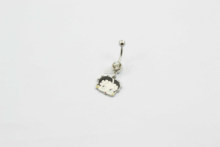 hot wholesale gauges 316L surgical stainless steel with logo drop gem belly rings