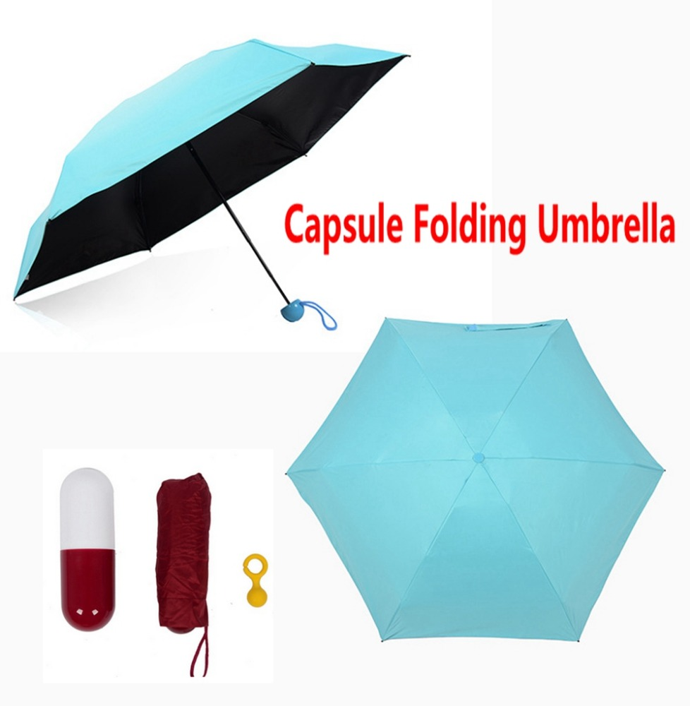Fashion New Design Hot new innovative capsule umbrella ladies capsule box small mini proket gifts umbrella