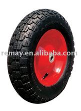 wheelbarrow Pneumatic rubber wheel with metal rim