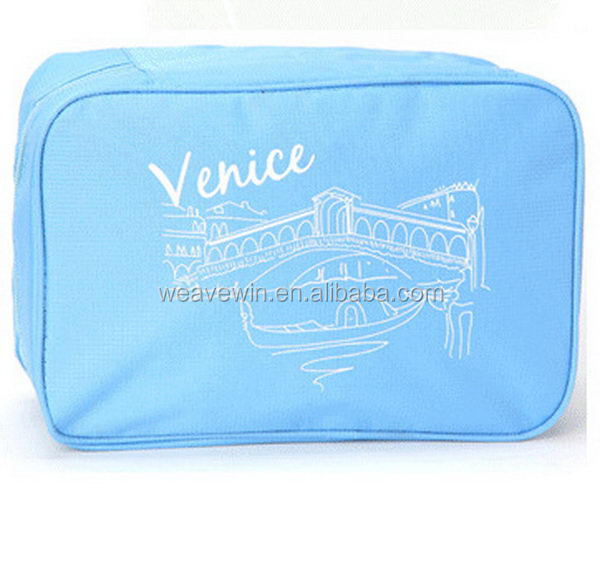 Fashion cheap Eco-Friendly Polyester fashion bag for cosmetic
