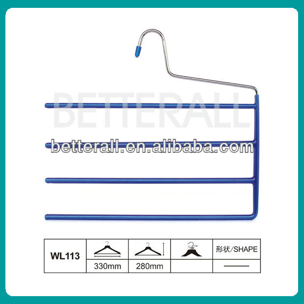 PVC-coated towels/trousers hanger