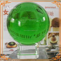 decorative green crystal ball,cristal balls