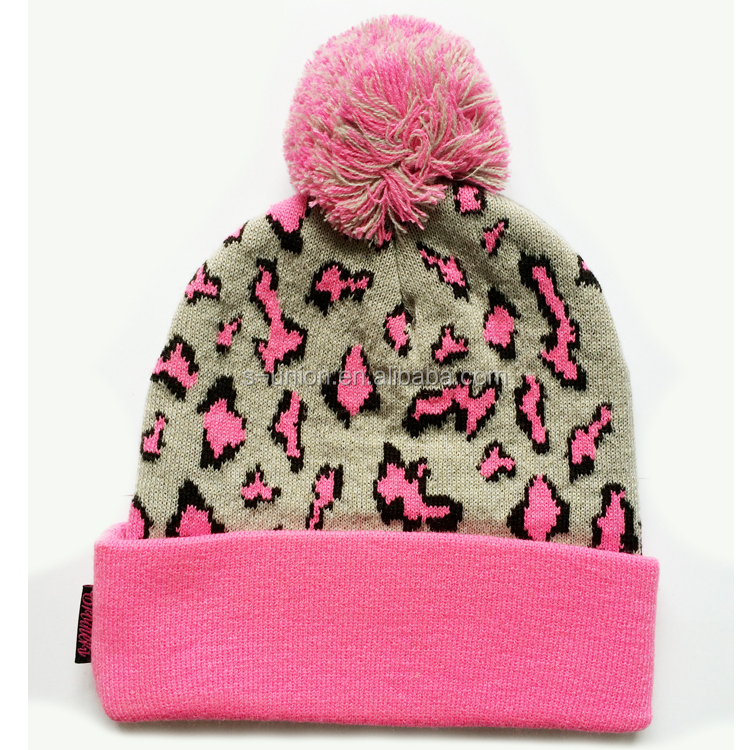 Wholesale fashion acrylic knitted women beanie hat winter men knitted winter hat
