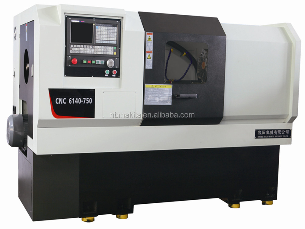 CNC6140 lathe with manual chuck four station turret machine cnc