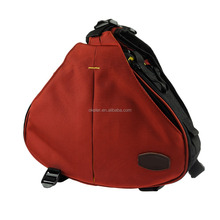 Dark Red Black DSLR/SLR Digital Camera Crossbody Bag, Camera Backpacks, Triangle Camera Bags
