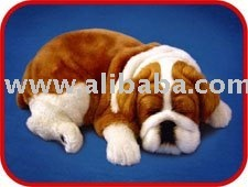 fur animal decoration, life-like fur animals, lifelike sleeping pet