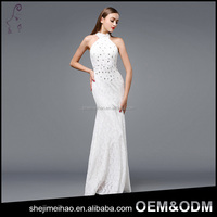 China Manufacturer Custom Made Elegant Lace Long Evening Dress Prom
