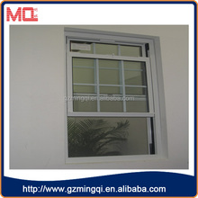 pvc Soundproof america style upper and lower pulling window/vertical sliding window