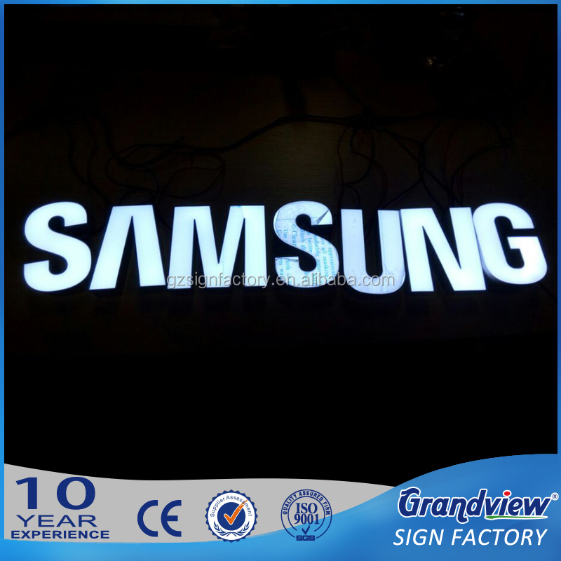China best advertising backlit or frontlit stainless steel LED letter sign and 3d sign letters