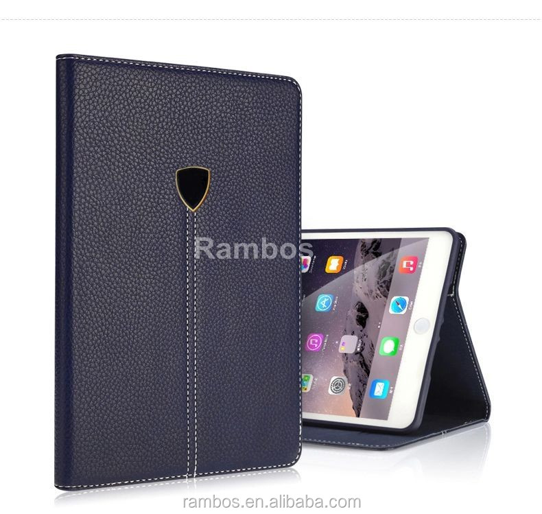Stand with Card Pocket Flip Cover Customized Tablet PC Folding Leather Case Cover for iPad Mini 2
