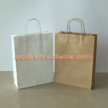 recycle Brown color kraft paper shopping bags