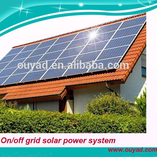3kw solar power system for household(solar panel+charge controller+power inverter+battery+mounting) from Ouyad