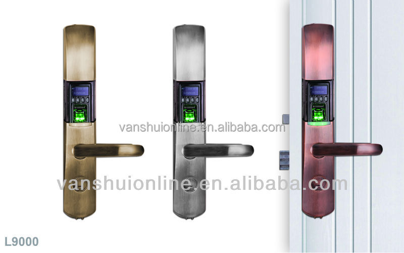 Fingerprint door lock/ Zinc Alloy/RFID card function/battery/OLED/reversible handle/model L9000