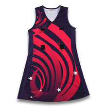 girls sexy netball dresses, sublimation printed netball dresses