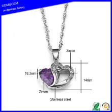 Stainless steel silver necklace for women for sale