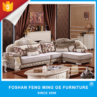 Luxury european furniture wholesale new model corner sofa for room