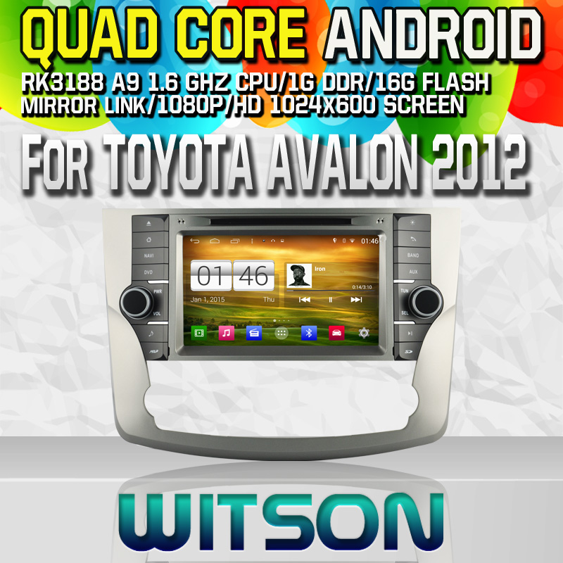 Witson S160 Android 4.4 Car DVD GPS For TOYOTA AVALON 2012 with Quad Core Rockchip 3188 1080P 16g ROM WiFi