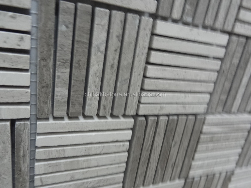 KB-X003 Polished wave finish mosaic tile chinese tile manufacturer