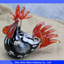 Wholesale Hand Blown Glass Figurines Glass Roosters