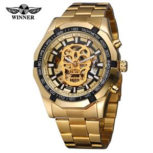 China T- winner Branded WristWatches Wholesale Custom Brand Mens Skull Skeleton Luxury Men Wrist Automatic Mechanical Watch Man