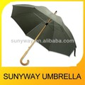 Manual Open Wooden Umbrella