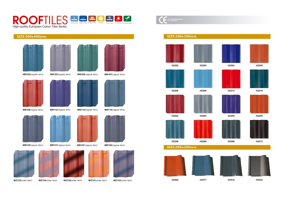 double color roofing tiles building materials