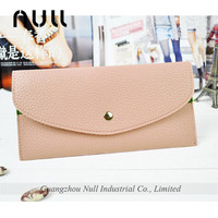 2016 latest design Candy color lady leather wallet purses