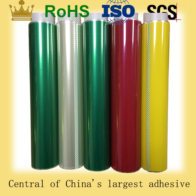 Silicone adhesive green polyester film coating