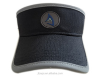 Custom leather patch and market fabric for men's short fashion sports visor/sun visor cap/ hat