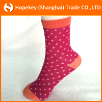 Children socks ,fashion young girl tube socks with dot