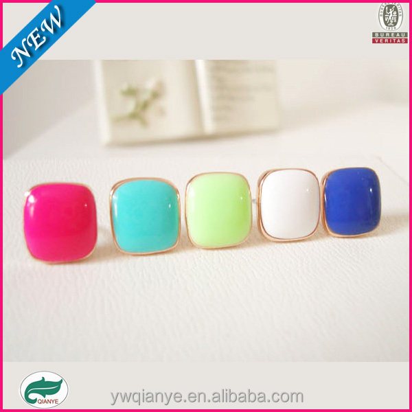 The candy color simple box non pierced ear clip