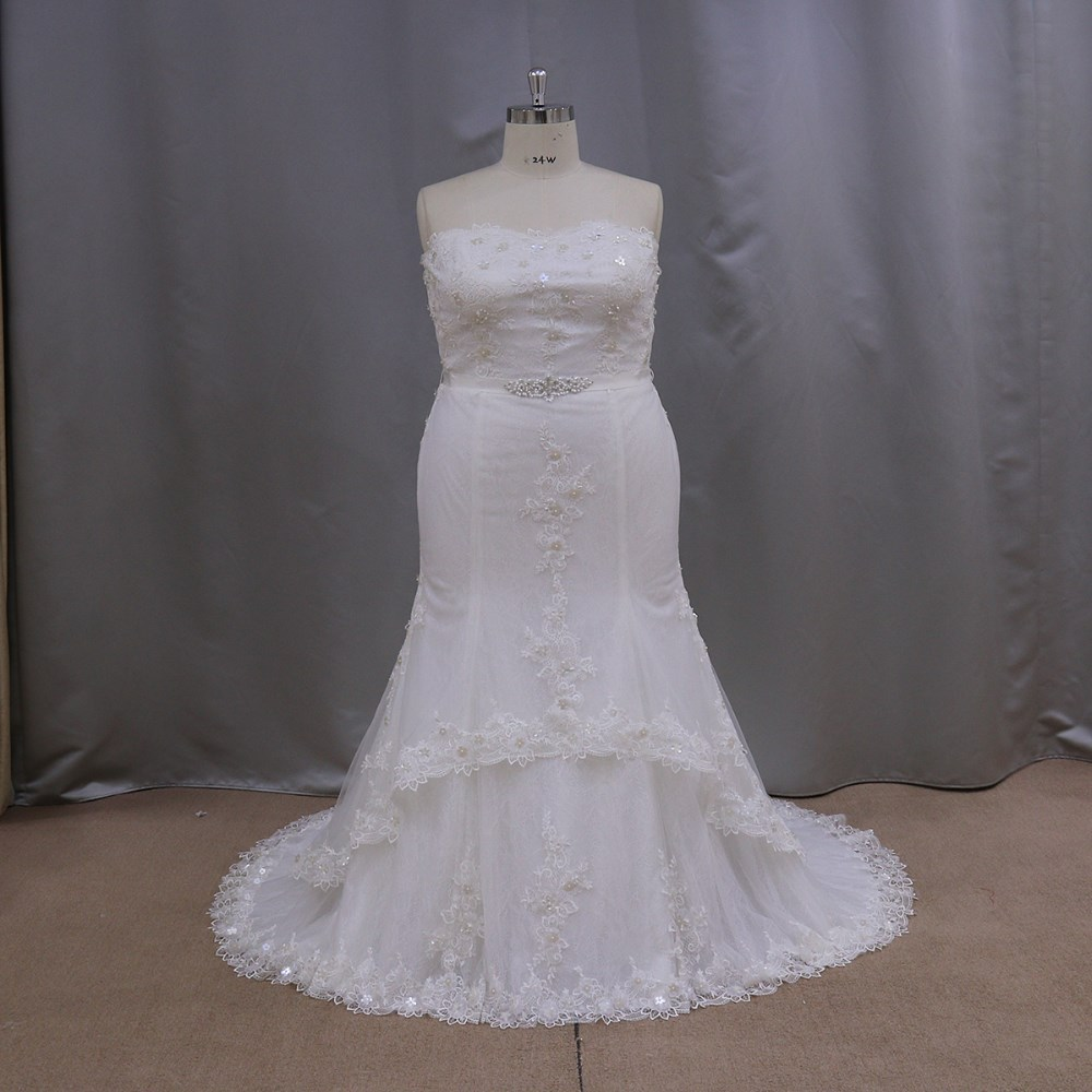 SL322 big size wedding gowns for fat bride