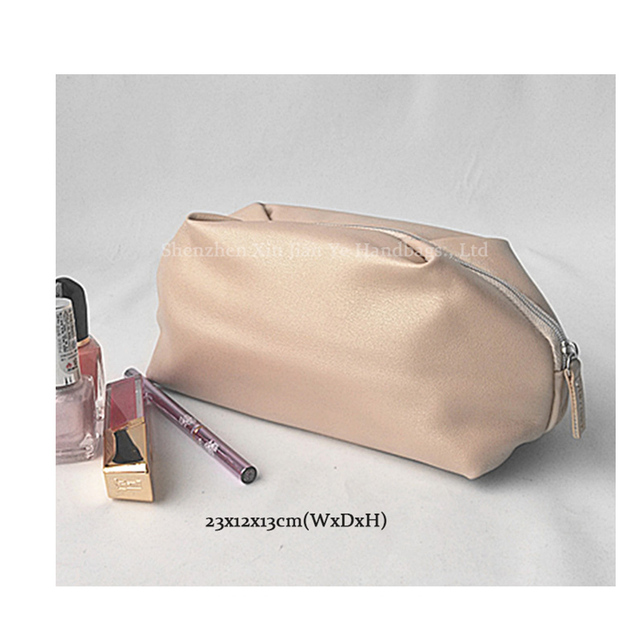 Shiny PU cheap cosmetic makeup toiletry bag wholesale
