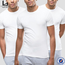 Thailand wholesale clothing men slim fit fine cotton solid white tshirt