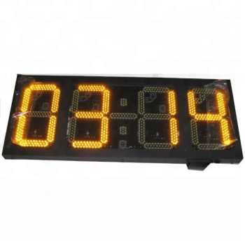amber 12inch alibaba new product outdoor led clock time date temperature sign