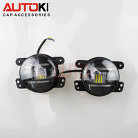 Autoki LED DRL Fog Lamp universal 90MM LED Daytime Running Light Fog Light