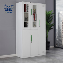 Office Furniture Used steel Filing Glass Door storage Cabinet With Locker