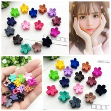 Plastic Flower Hair Claw Clip BB Baby Hairclips Hairpin multi colors