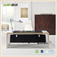 Hot selling modern office furniture design curved white glass executive ceo desk table